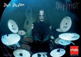 PAISTE LOGO GEAR - Paiste Poster Joey Jordison (Slipknot) Joey ...