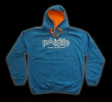 CONTRAST HOODY blue/orange